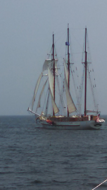 Scooner Under Sail